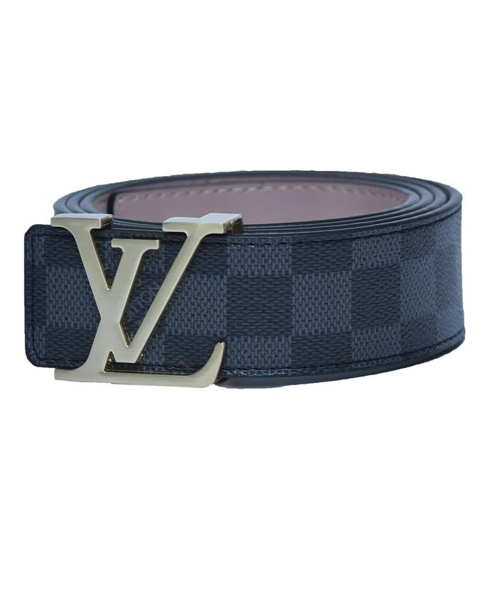 8f6d282c8740 Louis Vuitton initiales black and grey striped belt – YeaCheez ...