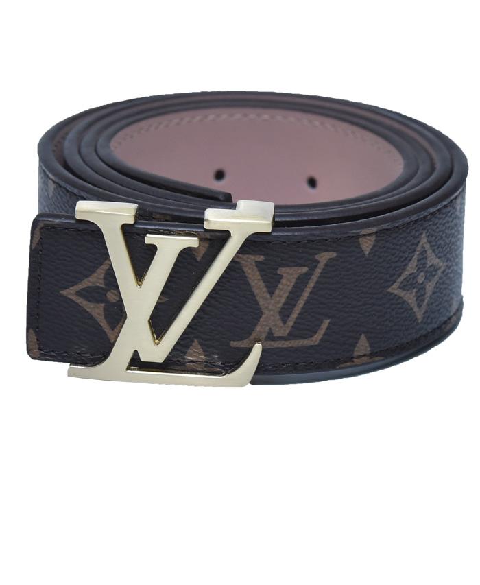 Louis Vuitton Brown Belt With Golden Buckle