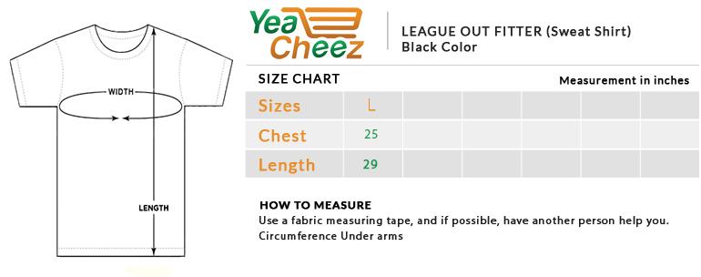 League Outfitter Sweat Shirt Black
