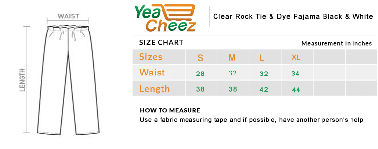 Clear Rock Tie & Dye Pajama Black & White