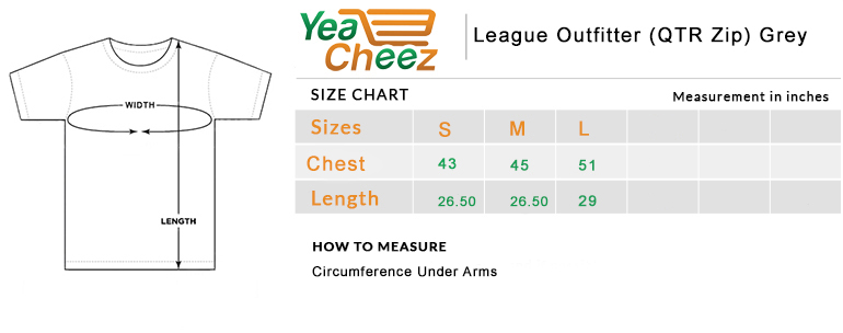 League Outfitter (QTR Zip) Grey