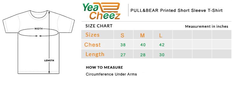 PULL&BEAR Printed Short Sleeve T-Shirt