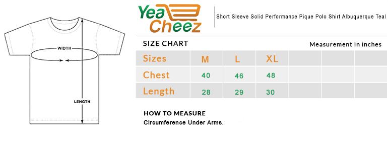 Short Sleeve Solid Performance Pique Polo Shirt Albuquerque Teal