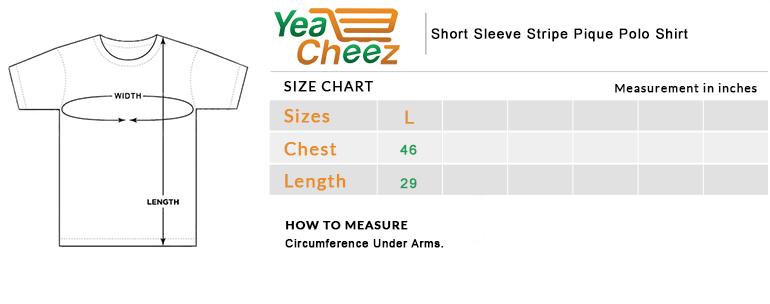 Short Sleeve Stripe Pique Polo Shirt