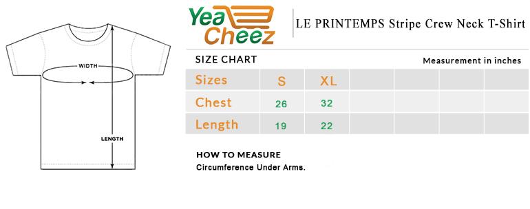 LE PRINTEMPS Stripe Crew Neck T-Shirt