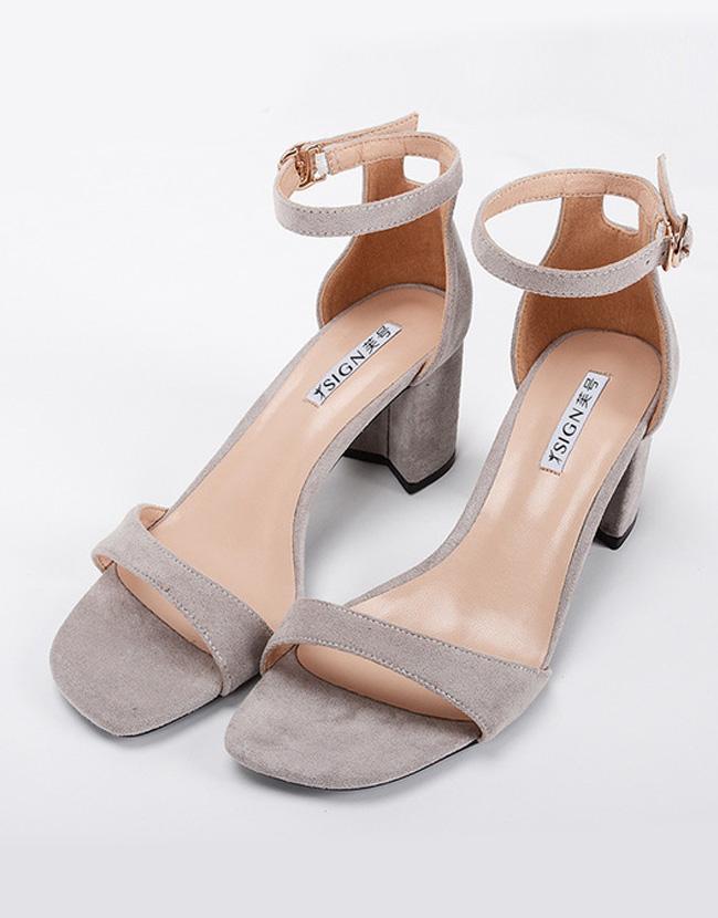 Pumps High Heels Peep Toe Suede Leather Women Shoes Yeacheez