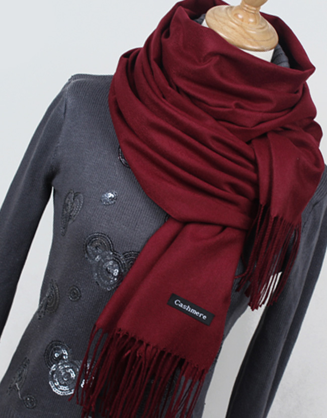 more photos 58ccd cc24e Women Solid Color High Quality Cashmere Scarves with Tassel