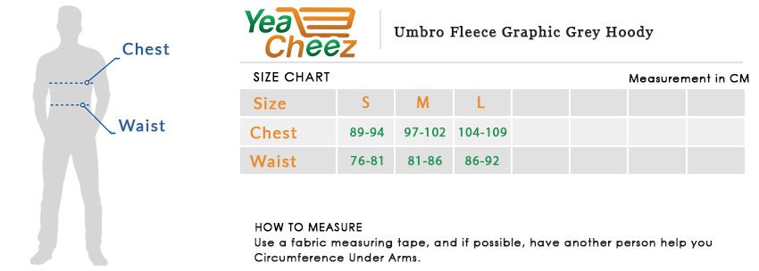 Umbro Fleece Graphic Grey Hoodie