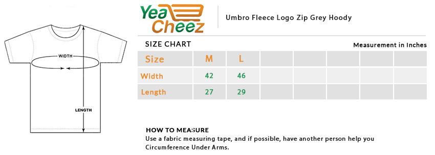 Umbro Fleece Logo Zip Grey Hoodie