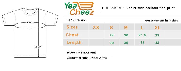 PULL&BEAR T-shirt with balloon fish print