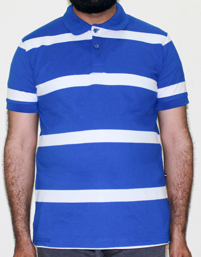 best service 8e834 2130c TOM TAILOR Cotton Polo Shirt Blue White Stripes